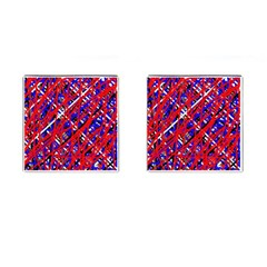 Red and blue pattern Cufflinks (Square)