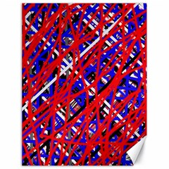 Red and blue pattern Canvas 18  x 24