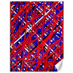 Red and blue pattern Canvas 36  x 48