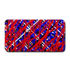Red and blue pattern Medium Bar Mats