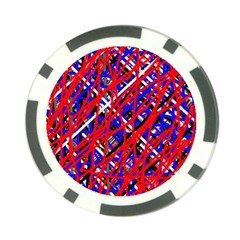 Red and blue pattern Poker Chip Card Guards