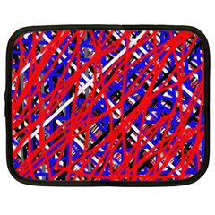 Red and blue pattern Netbook Case (Large)