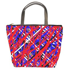 Red And Blue Pattern Bucket Bags