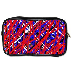 Red and blue pattern Toiletries Bags 2-Side