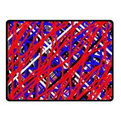 Red and blue pattern Fleece Blanket (Small)