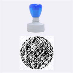 Red and blue pattern Rubber Round Stamps (Medium)