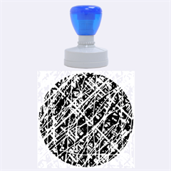 Red and blue pattern Rubber Round Stamps (Large)