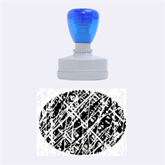 Red and blue pattern Rubber Oval Stamps