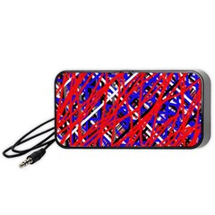 Red and blue pattern Portable Speaker (Black)