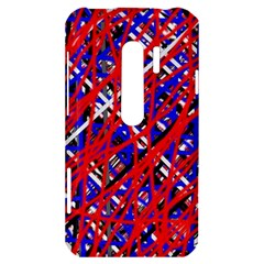 Red and blue pattern HTC Evo 3D Hardshell Case