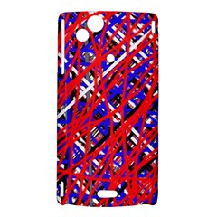 Red and blue pattern Sony Xperia Arc