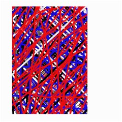 Red and blue pattern Large Garden Flag (Two Sides)