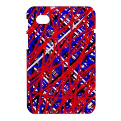 Red and blue pattern Samsung Galaxy Tab 7  P1000 Hardshell Case