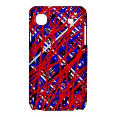 Red and blue pattern Samsung Galaxy SL i9003 Hardshell Case