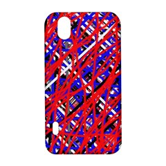 Red and blue pattern LG Optimus P970