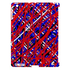 Red and blue pattern Apple iPad 3/4 Hardshell Case (Compatible with Smart Cover)