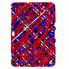 Red and blue pattern Samsung Galaxy Tab 8.9  P7300 Hardshell Case