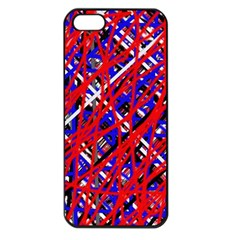 Red and blue pattern Apple iPhone 5 Seamless Case (Black)
