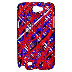 Red and blue pattern Samsung Galaxy Note 2 Hardshell Case