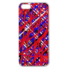 Red and blue pattern Apple Seamless iPhone 5 Case (Clear)
