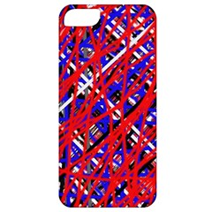 Red and blue pattern Apple iPhone 5 Classic Hardshell Case