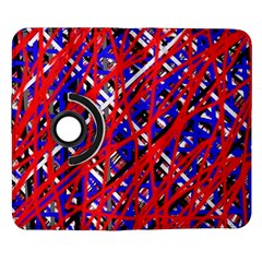 Red and blue pattern Samsung Galaxy Note II Flip 360 Case