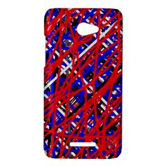 Red and blue pattern HTC Butterfly X920E Hardshell Case
