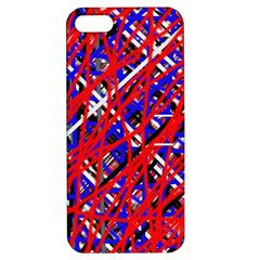 Red and blue pattern Apple iPhone 5 Hardshell Case with Stand