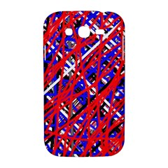 Red and blue pattern Samsung Galaxy Grand DUOS I9082 Hardshell Case