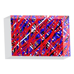 Red and blue pattern 4 x 6  Acrylic Photo Blocks