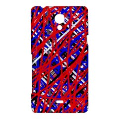 Red and blue pattern Sony Xperia T