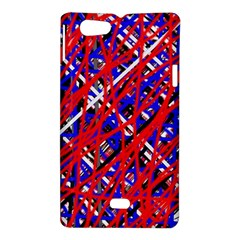Red and blue pattern Sony Xperia Miro