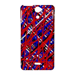 Red and blue pattern Sony Xperia V