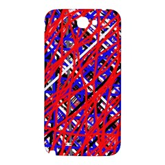 Red and blue pattern Samsung Note 2 N7100 Hardshell Back Case