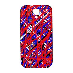 Red and blue pattern Samsung Galaxy S4 I9500/I9505  Hardshell Back Case