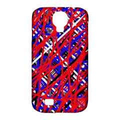 Red and blue pattern Samsung Galaxy S4 Classic Hardshell Case (PC+Silicone)