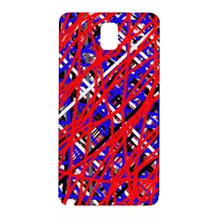 Red and blue pattern Samsung Galaxy Note 3 N9005 Hardshell Back Case