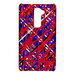 Red and blue pattern LG G2
