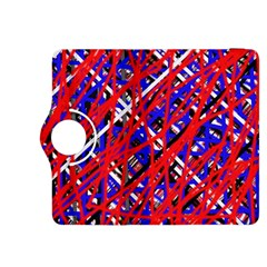 Red and blue pattern Kindle Fire HDX 8.9  Flip 360 Case