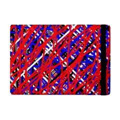 Red and blue pattern iPad Mini 2 Flip Cases