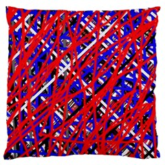 Red and blue pattern Standard Flano Cushion Case (One Side)