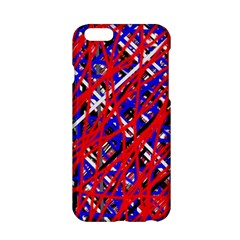Red and blue pattern Apple iPhone 6/6S Hardshell Case