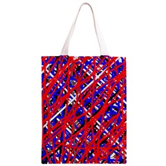 Red and blue pattern Classic Light Tote Bag