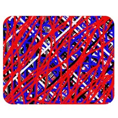 Red and blue pattern Double Sided Flano Blanket (Medium)