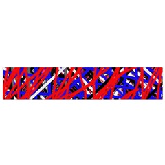 Red and blue pattern Flano Scarf (Small)