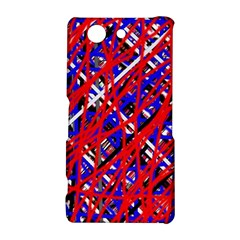 Red and blue pattern Sony Xperia Z3 Compact