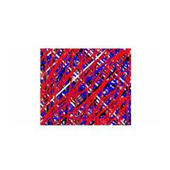 Red and blue pattern Satin Wrap