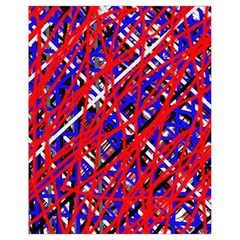 Red and blue pattern Drawstring Bag (Small)