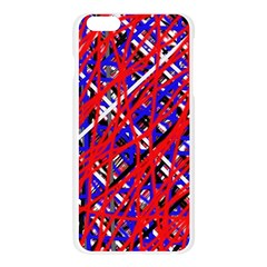 Red and blue pattern Apple Seamless iPhone 6 Plus/6S Plus Case (Transparent)