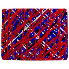 Red And Blue Pattern Jigsaw Puzzle Photo Stand (rectangular)